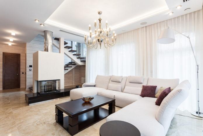 освещение гостиной в интерьере дома