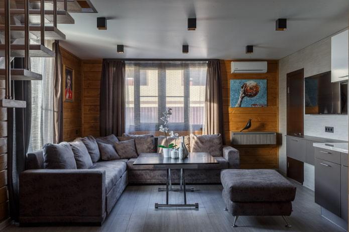 меблировка гостиной в интерьере дома