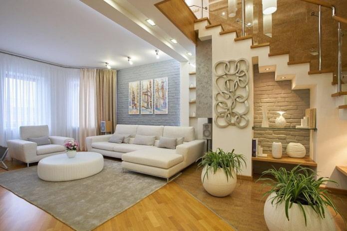 аксессуары и декор в гостиной в интерьере дома