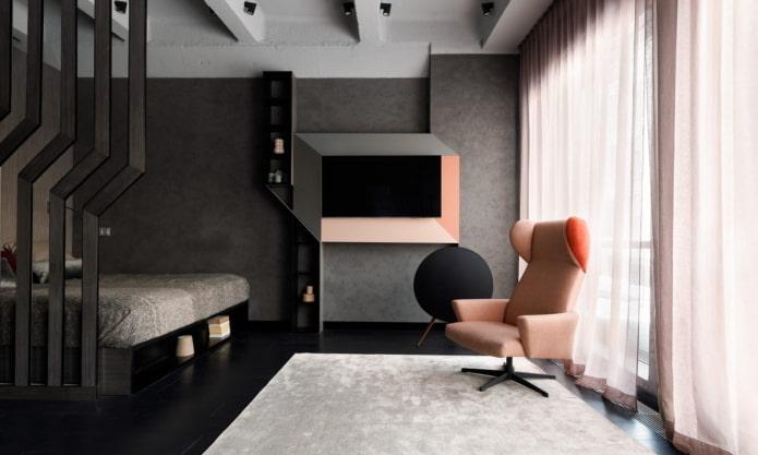 гостиная со спальной зоной