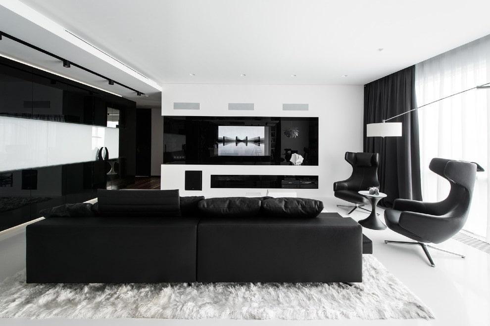 принтованные или дизайн гостиной в черно белых тонах фото фоток