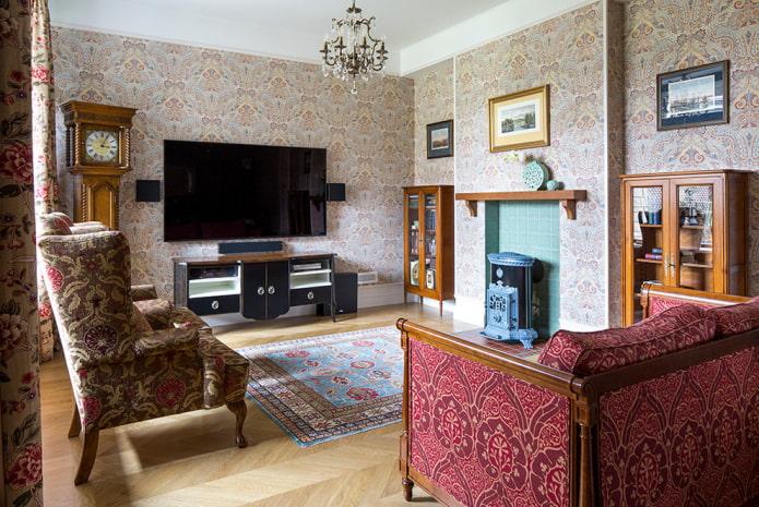 отделка гостиной в стиле классика