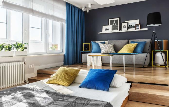 выдвижное спальное место в гостиной