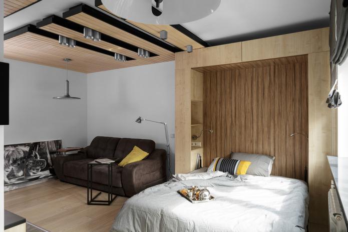 меблировка совмещенной спальни-гостиной