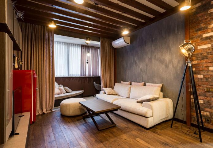 гостиная 18 квадратов с балконом