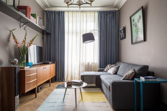 расстановка мебели в гостиной площадью 16 кв