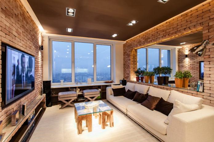 освещение в гостиной площадью 16 квадратов