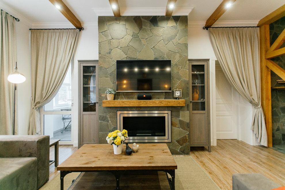 Интерьер гостиной с камином: 59 фото, идеи дизайна | 660x990