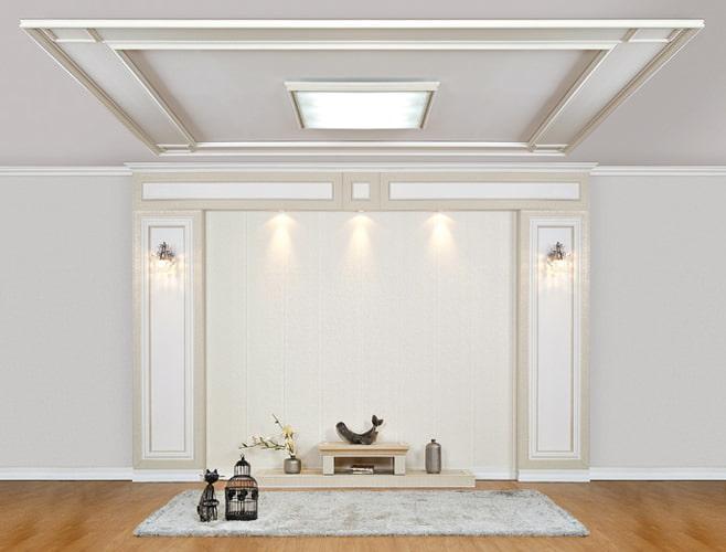 Дизайн потолка молдингом