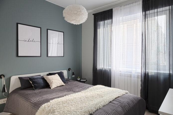 спальная комната в скандинавском стиле в хрущевке