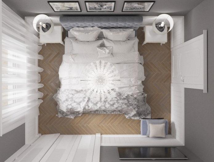 планировка спальной комнаты в хрущевке