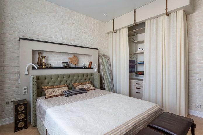 зонирование спальной комнаты в хрущевке