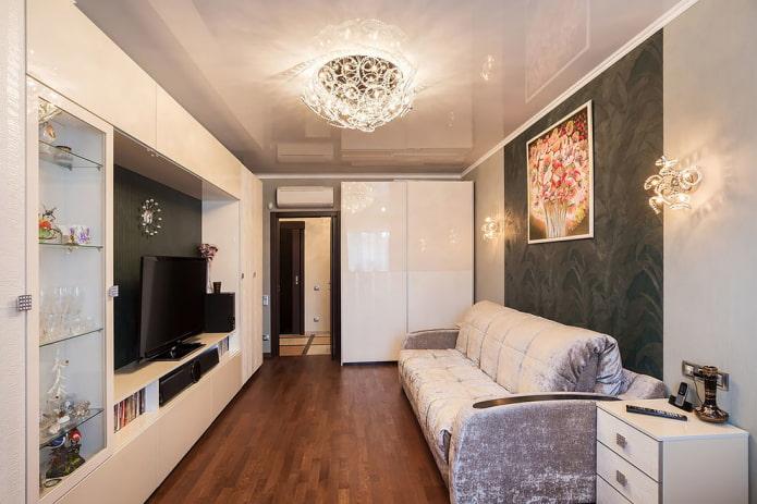 меблировка гостиной в квартире хрущевке