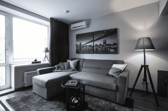 дизайн зала в квартире хрущевке