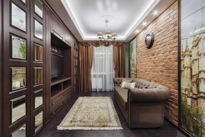 планировка зала в квартире хрущевке