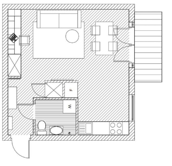 перепланировка однокомнатной квартиры хрущевки