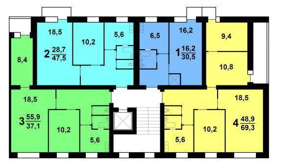 планировка дома серии 447
