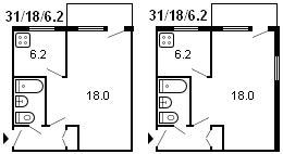 планировка 1-комнатной хрущевки серии 1-335