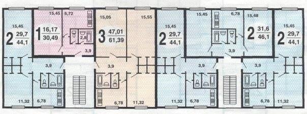 план типового этажа дома серии К-7
