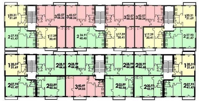план типового этажа дома серии 335