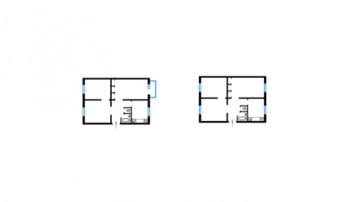 планировка дома серии 480