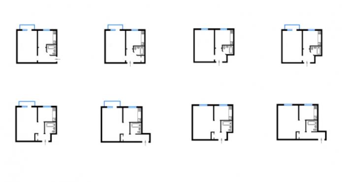планировка 1комнатных квартир серии 438