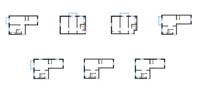 планировка дома серии 438