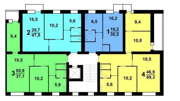 план этажа хрущевки 447-с47 серии