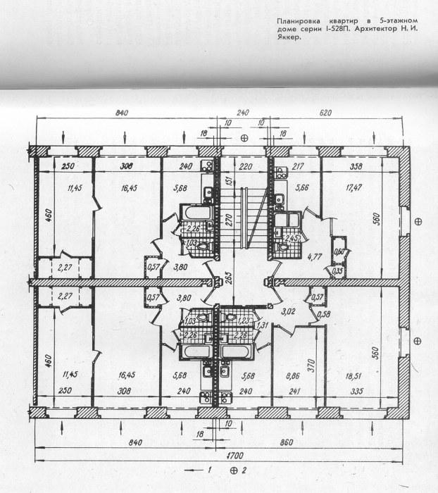 схема этажа хрущевки серии 528