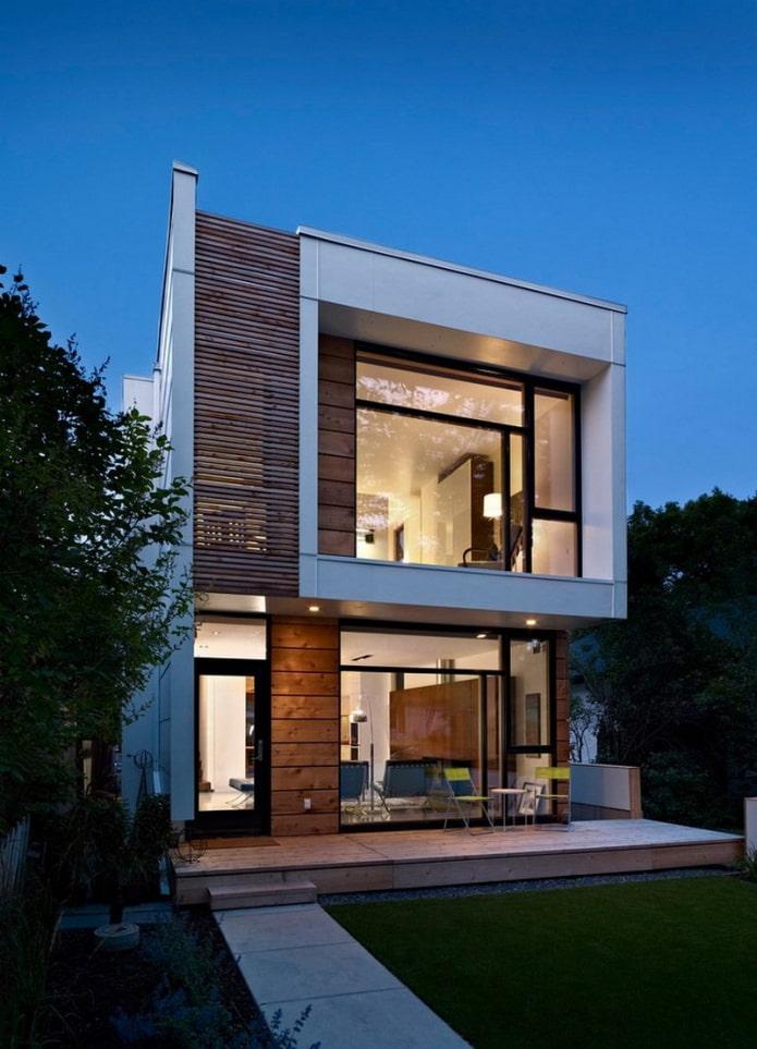 маленький дом в стилистике хай-тек