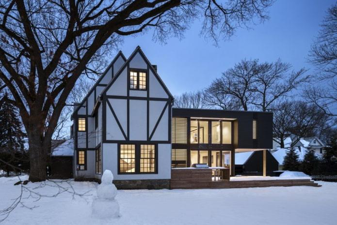 проект дома в стиле фахверк