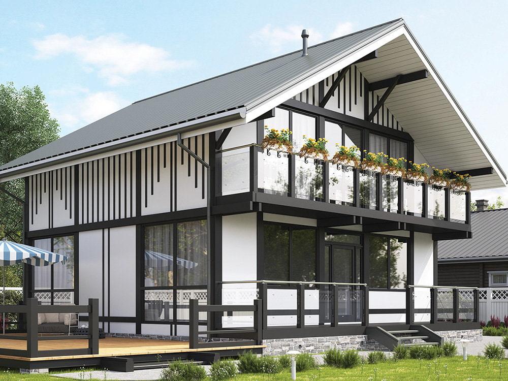 фасады каркасных домов картинки будет двух-трех