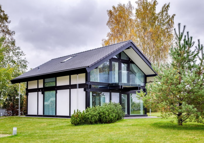 маленький дом в стиле фахверк