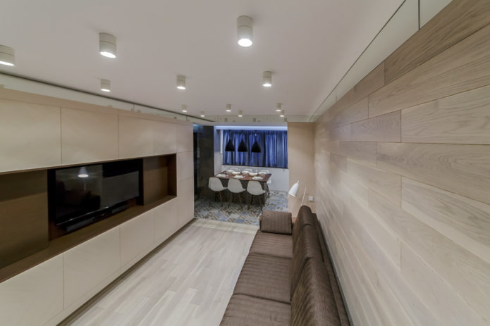 потолочные споты в дизайне помещения