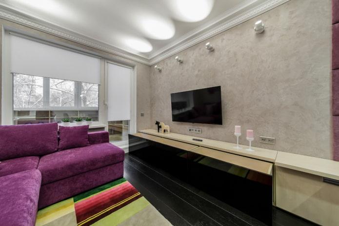 настенные споты в дизайне помещения