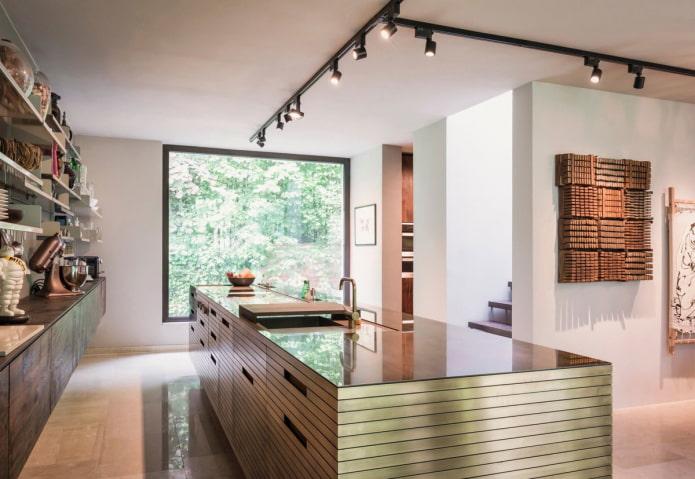 споты в дизайне кухни