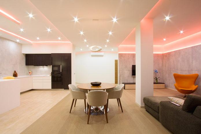 точечное освещение в дизайне интерьера
