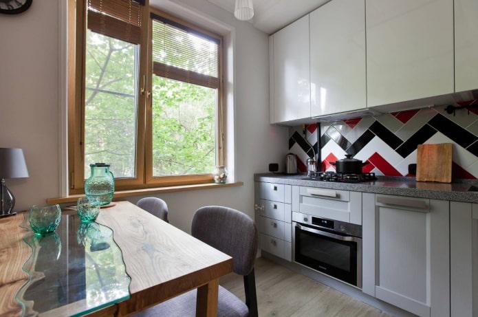 гарнитур на кухне площадью 9 квадратов