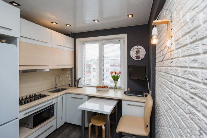 отделка кухни площадью 6 квадратов