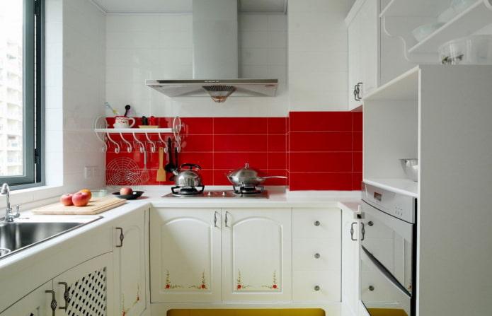 цветовое решение кухни площадью 6 квадратов
