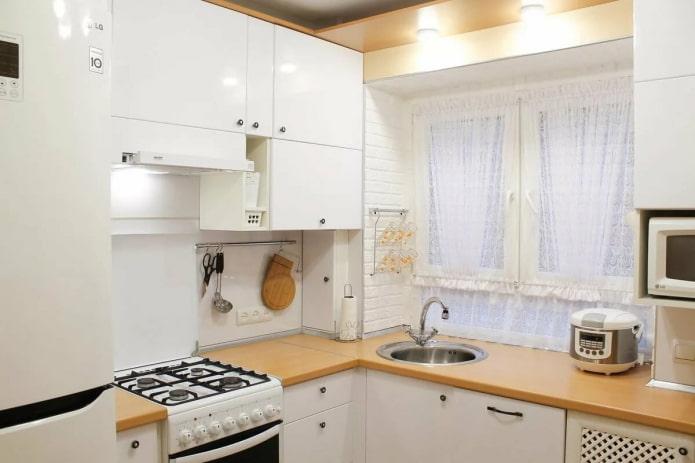 интерьер кухни площадью 6 квадратов