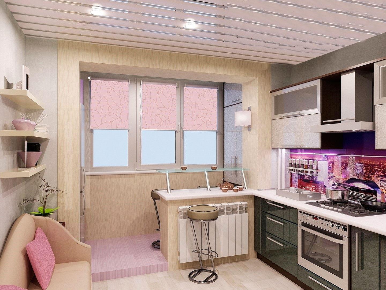 Продление кухни на балкон фото