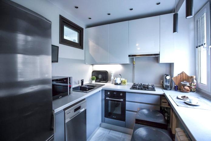 гарнитур на кухне площадью 6 квадратов