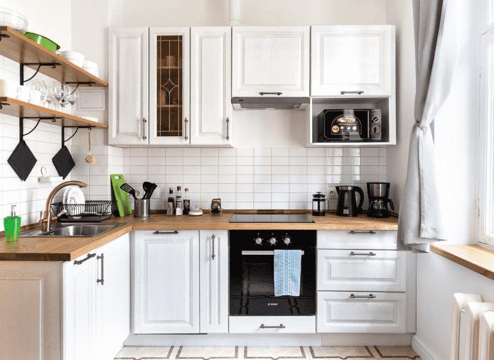 гарнитур на кухне площадью 8 кв м