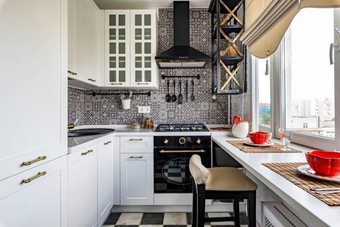 интерьер кухни площадью 8 кв с окном