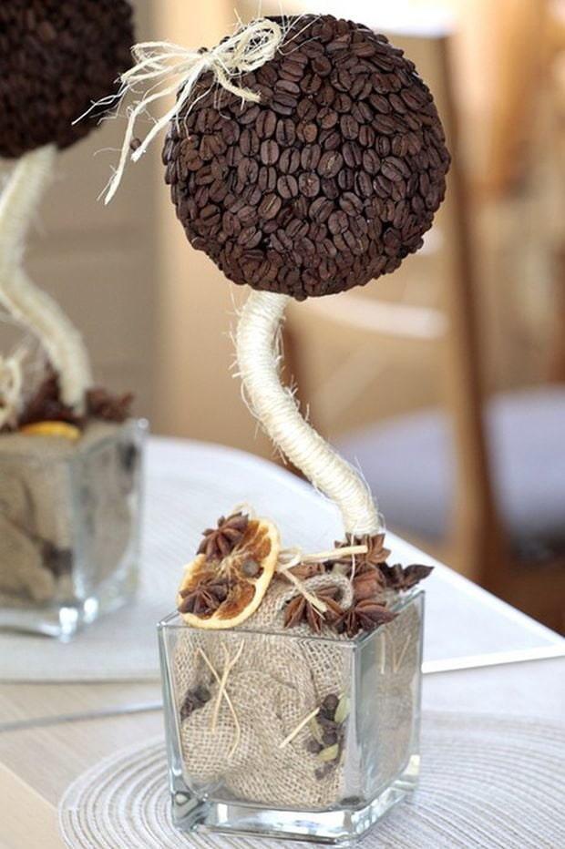 дерево из кофе своими руками фото растение имеет