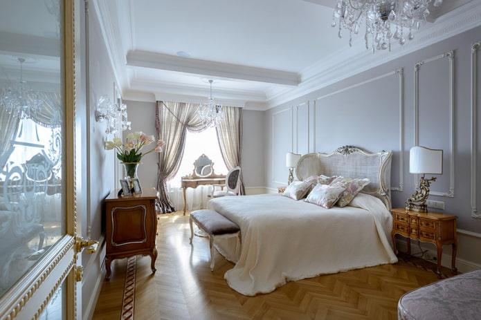 отделка спальной комнаты в классическом стиле
