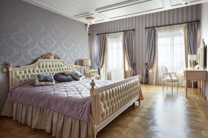 расцветка спальни в классической стилистике