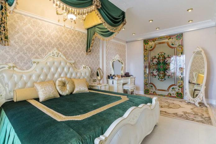 текстиль в спальне в классической стилистике