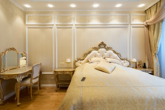 освещение в спальне в классической стилистике